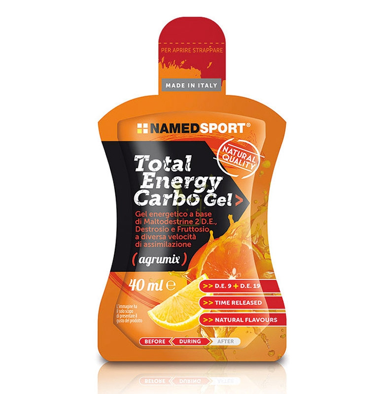 Named Sport Linea Sportivi Total Energy Carbo Gel Integratore Alimentare 40 ml