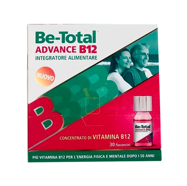 Betotal Linea Vitamine e Minerali Be-Total Advance B12 Integratore 30 Flaconcini